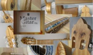 Classical guitar from pine: final photo of Pinus project