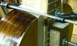 Вклейка грифа советской гитары