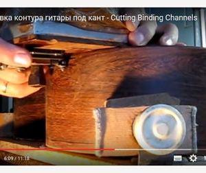Фрезеровка контура гитары под кант