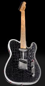 Гитара из крокодила и бриллиантов