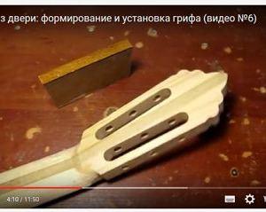Гитара из двери: формирование и установка грифа (видео №6)