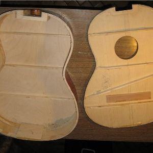 Разборка корпуса советской гитары