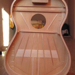 Дека советской гитары: веер, рипы, футера