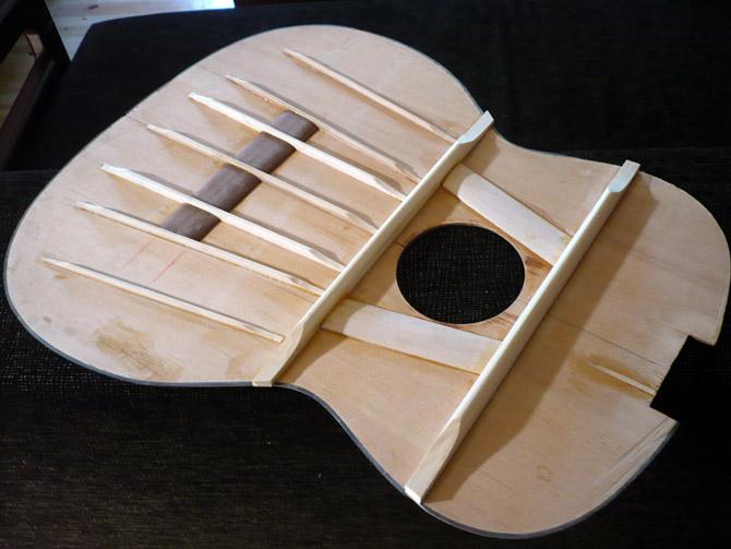 Дека для гитары своими руками