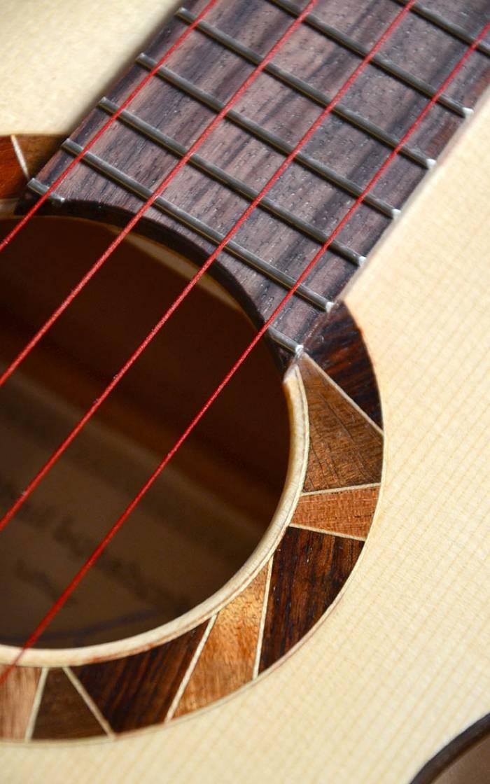 Изготовление укулеле-тенора, ель-клен